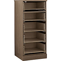Hygena 5 Drawer Narrow Chest - Walnut