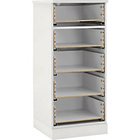 Hygena 5 Drawer Narrow Chest - White