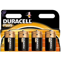 Duracell Plus D Batteries - 4 Pack