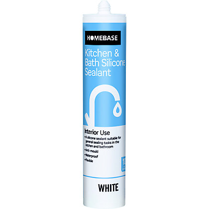 Image for Homebase Kitchen & Bath Silicone Sealant - White from StoreName