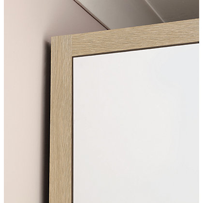 Image for Hygena Chunky Horizontal Trim - Oak 3 Door Wardrobe Length from StoreName