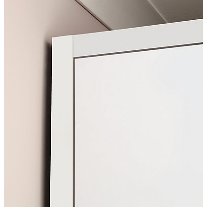 Image for Hygena Chunky Horizontal Trim - White - 4 Door Wardrobe Length from StoreName