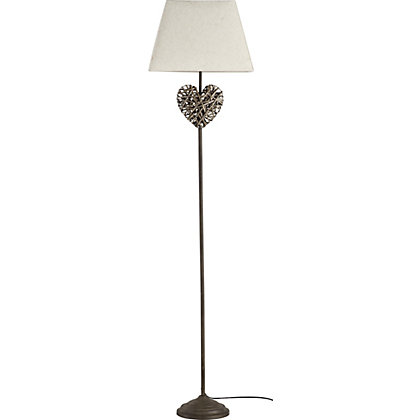 Image for Wicker Heart Floor Lamp - Natural from StoreName