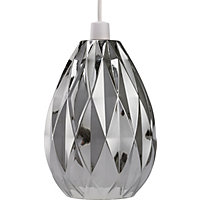 Neptune Glass Easy Fit Pendant - Smoke