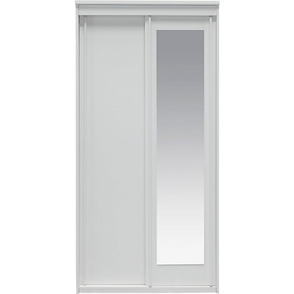 New Hallingford 2 Dr Sliding Mirrored Wardrobe White At Homebase Be Inspired And Make Your