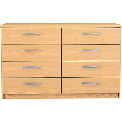 New Hallingford 4 4 Drawer Chest Beech Effect