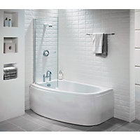 Tranquil Corner Shower Bath Screen - Right Hand