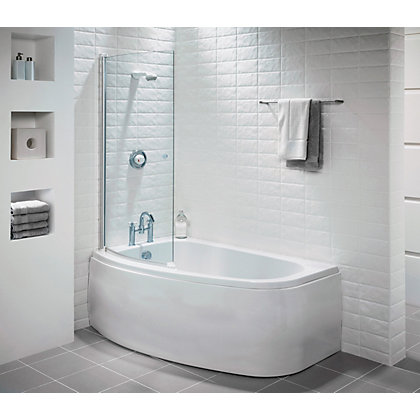 Image for Tranquil Corner Shower Bath Screen - Right Hand from StoreName