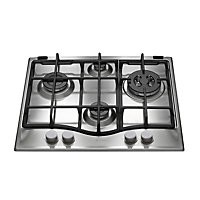Hotpoint GF640TX 60cm Gas Hob with Cast Iron Supports