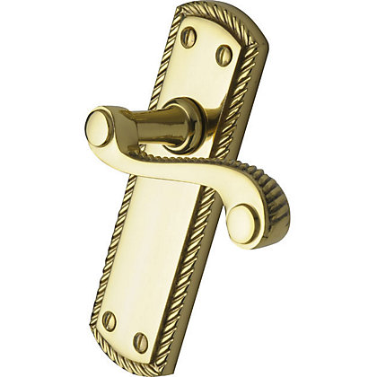 Image for Georgian Long Door Handles - Polished Brass - 1 Pair from StoreName