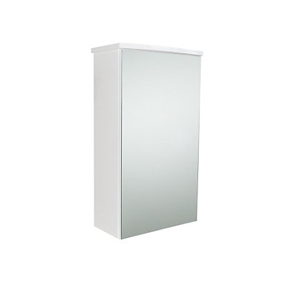Image for Pompeii Bathroom Mirror Single Door Cabinet - White Gloss from StoreName