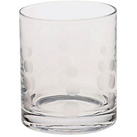 Etched Spot Tumbler Glass