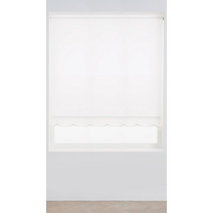 Image for Homebase White Scallop Roller Blind - 120cm from StoreName