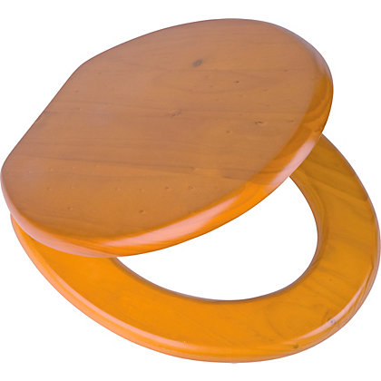 Image for Value Antique Pine Toilet Seat from StoreName
