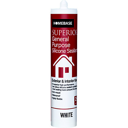 Image for Homebase Superior General Purpose Silicone Sealant - White from StoreName