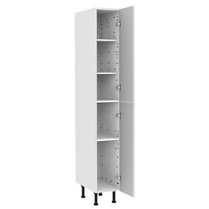 Simply hygena chancery white gloss larder unit 300mm for Home base kitchen units