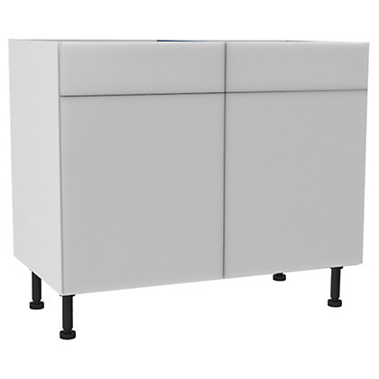 Image for Simply Hygena Chancery - Gloss White - 1000mm Standard Drawer Line Base Unit from StoreName