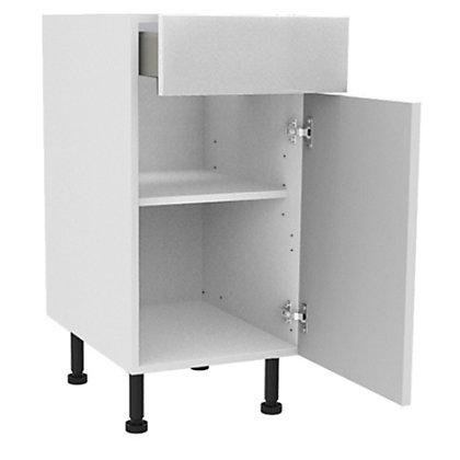 Image for Simply Hygena Chancery - Gloss White - 400mm Premium Drawer Line Base Unit from StoreName