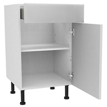 Image for Simply Hygena Chancery - Gloss White - 500mm Premium Drawer Line Base Unit from StoreName
