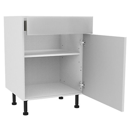 Image for Simply Hygena - Chancery White Gloss Drawer Line Base (Premium) - 600mm from StoreName