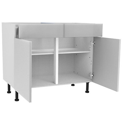 Image for Simply Hygena Chancery - Gloss White - 1000mm Premium Drawer Line Base Unit from StoreName
