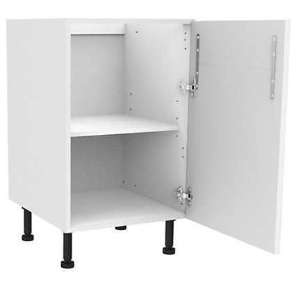 Image for Simply Hygena Chancery - Gloss White - 500mm Dummy Drawer Line Base Unit from StoreName