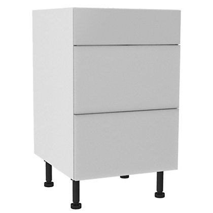 Image for Simply Hygena - Chancery White Gloss 3 Drawer Base (Premium) - 500mm from StoreName