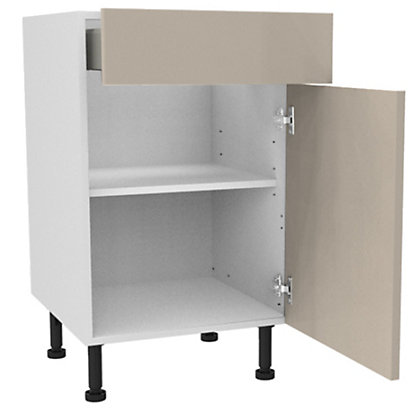 Image for Simply Hygena Chancery - Gloss Cream - 500mm Premium Drawer Line Base Unit from StoreName