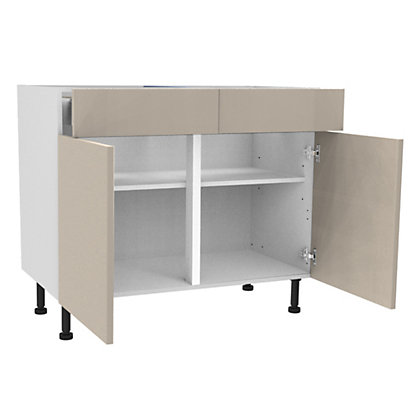 Image for Simply Hygena Chancery - Gloss Cream - 1000mm Premium Drawer Line Base Unit from StoreName