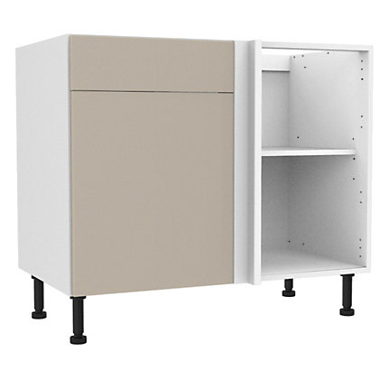 Image for Simply Hygena Chancery - Gloss Cream - 1000mm Standard Drawer Line Corner Base Unit from StoreName