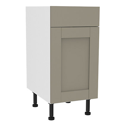 Image for Simply Hygena Amersham - Grey - 400mm Standard Drawer Line Base Unit from StoreName