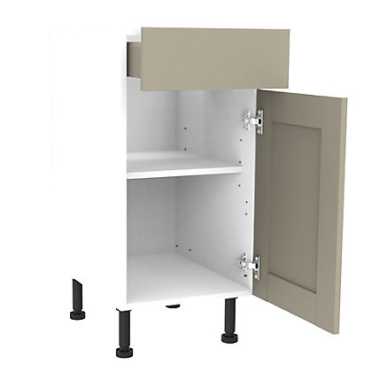 Image for Simply Hygena Amersham - Grey - 500mm Premium Drawer Line Base Unit from StoreName