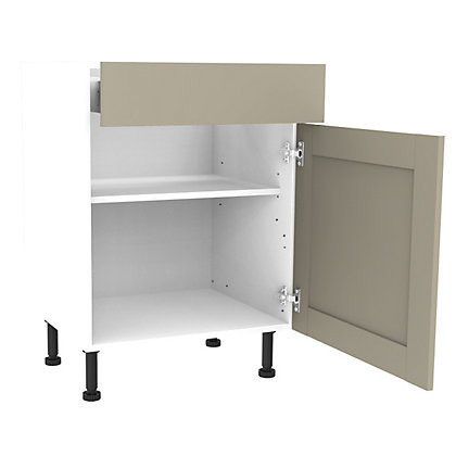 Image for Simply Hygena Amersham - Grey - 600mm Premium Drawer Line Base Unit from StoreName
