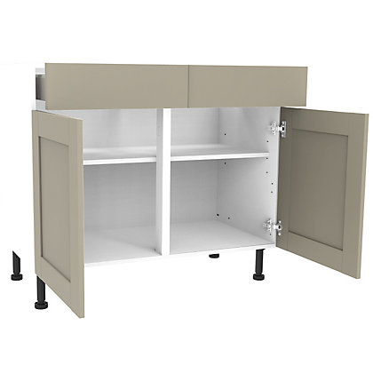 Image for Simply Hygena Amersham - Grey - 1000mm Premium Drawer Line Base Unit from StoreName