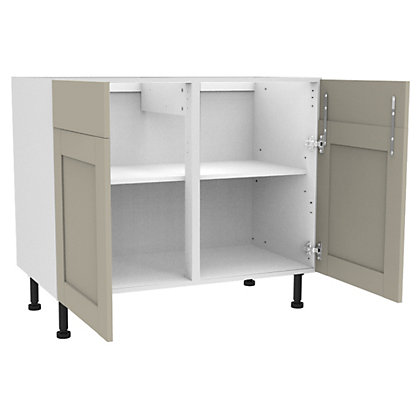 Image for Simply Hygena Amersham - Grey - 1000mm Dummy Drawer Line Base Unit from StoreName