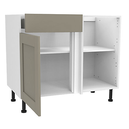 Image for Simply Hygena Amersham - Grey - 1000mm Premium Drawer Line Corner Base Unit from StoreName