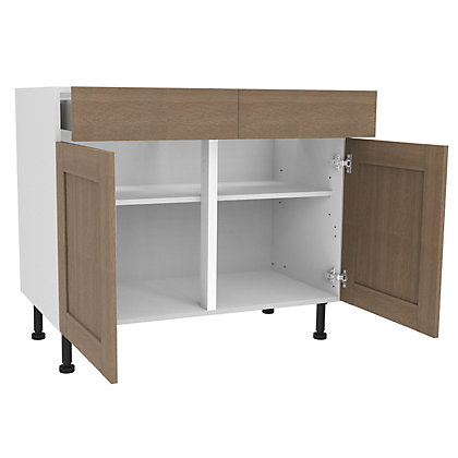 Image for Simply Hygena Amersham - Oak - 1000mm Premium Drawer Line Base Unit from StoreName