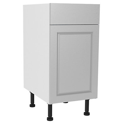 Image for Simply Hygena Elverson - Gloss White - 400mm Standard Drawer Line Base Unit from StoreName