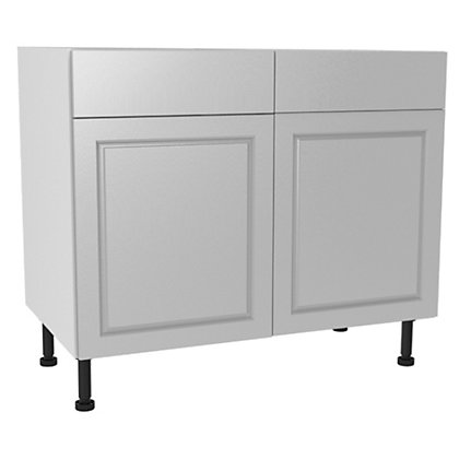 Image for Simply Hygena Elverson - Gloss White - 1000mm Standard Drawer Line Base Unit from StoreName