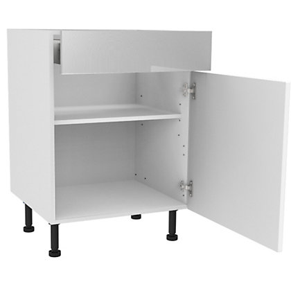 Image for Simply Hygena Elverson - Gloss White - 600mm Premium Drawer Line Base Unit from StoreName