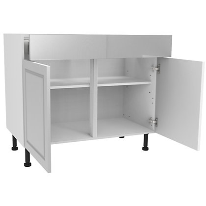 Image for Simply Hygena Elverson - Gloss White - 1000mm Premium Drawer Line Base Unit from StoreName