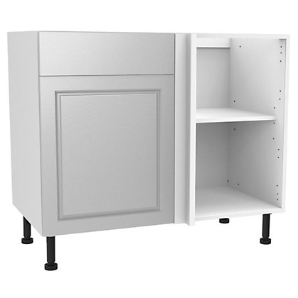 Image for Simply Hygena Elverson - Gloss White - 1000mm Standard Drawer Line Corner Base Unit from StoreName
