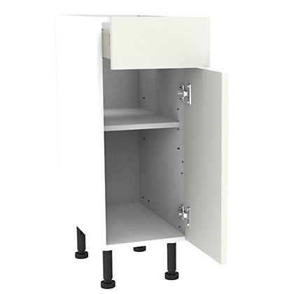 Image for Simply Hygena Gloucester - Gloss White - 300mm Premium Drawer Line Base Unit from StoreName
