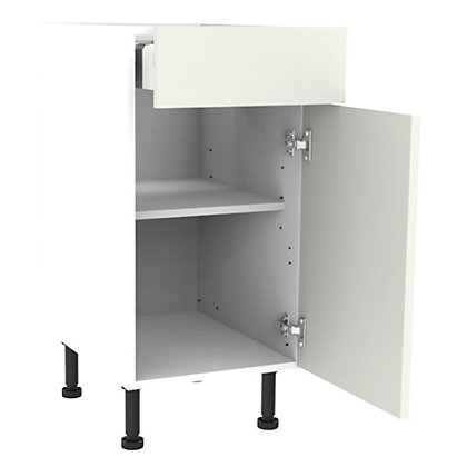 Image for Simply Hygena Gloucester - Gloss White - 400mm Premium Drawer Line Base Unit from StoreName