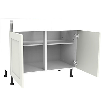 Image for Simply Hygena Gloucester - White - 1000mm Premium Drawer Line Base Unit from StoreName