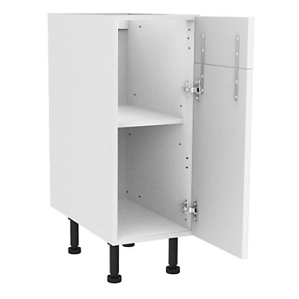 Image for Simply Hygena Gloucester - Gloss White - 300mm Dummy Drawer Line Base Unit from StoreName