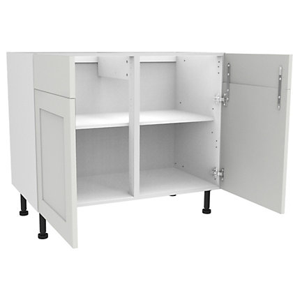 Image for Simply Hygena Gloucester - Gloss White - 1000mm Dummy Drawer Line Base Unit from StoreName