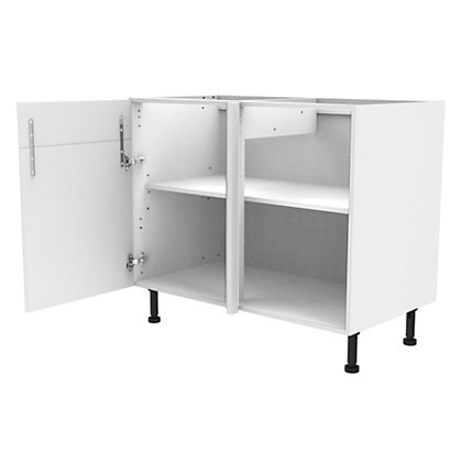 Image for Simply Hygena Gloucester - Gloss White - 1000mm Dummy Drawer Line Corner Base Unit from StoreName