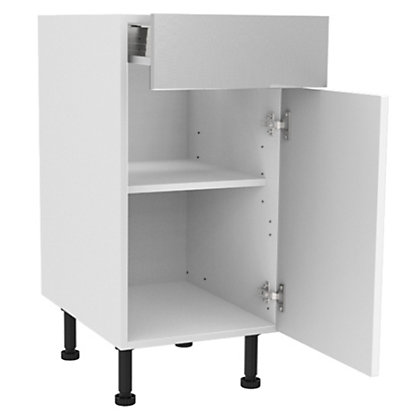Image for Simply Hygena Chesham - White - 400mm Standard Drawer Line Base Unit from StoreName