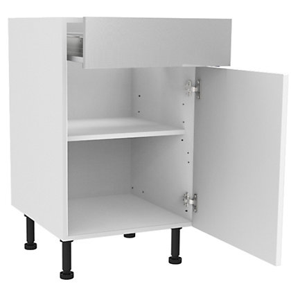 Image for Simply Hygena Chesham - White - 500mm Standard Drawer Line Base Unit from StoreName